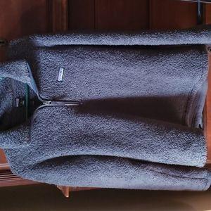 Patagonia dark gray sherpa style pullover   zip